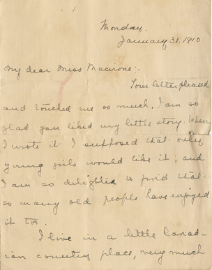 LM Montgomery Letter